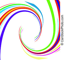 Abstract colour lines. Vector - Abstract colour lines on a...
