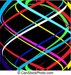 Abstract colour lines Vector - Abstract colour lines on a...