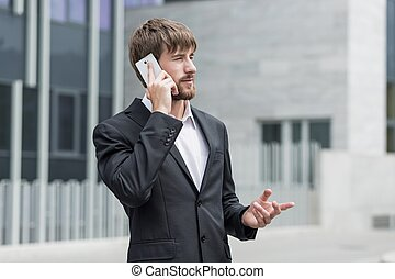 Man consulting business meeting - Young businessman...