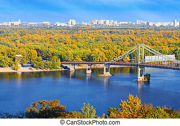 Pedestrian bridge across the Dnieper River