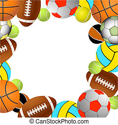 Sports balls.Vector illustration - Football, volleyball,...