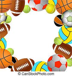 Sports balls.Vector illustration - Football, volleyball,...