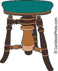 Piano stool - Vector illustration of a stool, EPS 8 file