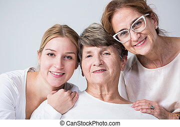 Multigenerational family spending time together - Happy...