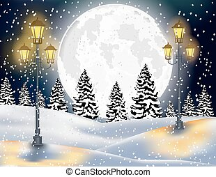 Winter Forest Landscape Christmas B