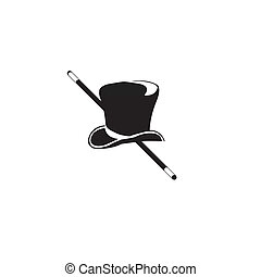black hat Vector illustration - black hat on a white...