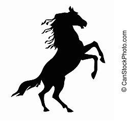 being on back feet horse Vector illustration - being on back...
