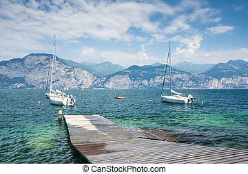 Sailing Boats at Lake Garda - Sailing boats at Lake Garda...