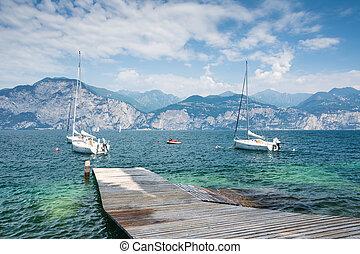 Sailing Boats at Lake Garda - Sailing boats at Lake Garda...