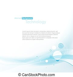Blue abstract technology background. With space for your text