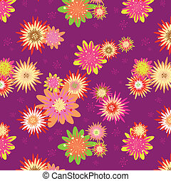 Summer colorful floral seamless pattern