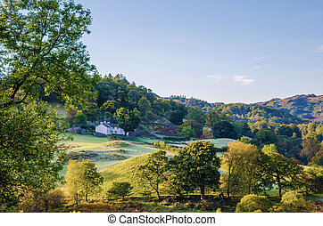 Little Langdale valley - Scenic morning view of Little...