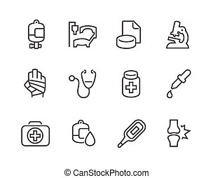 Outline Medical Icons