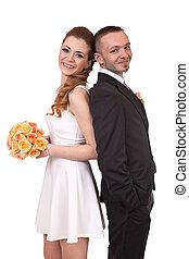 par, ung, bröllop