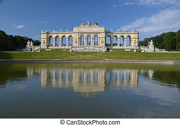 Gloriette at Schonbrunn, Vienna - Gloriette at Schonbrunn...