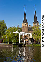 The Eastern Gate Oostpoort in Delft, an example of Brick...