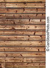 Old wood fence panels close up.