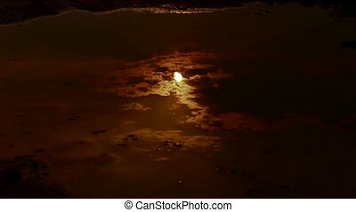 Moon reflection  water