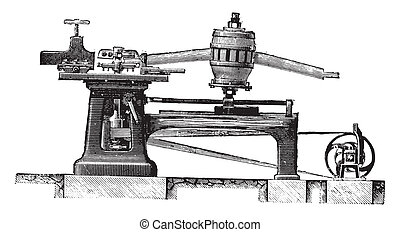 Cutting Machine legs and spindles spokes, Elevation, vintage...