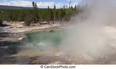Emerald Spring Yellowstone N.P. - emerald hot spring in...