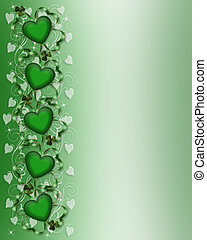 St Patricks Day Card Border
