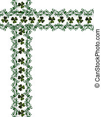St Patrick\'s Day Card Border - 3D Illustration for St...