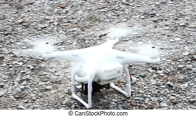 drone Fly up in the air, Radio controlled