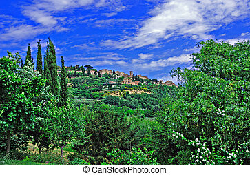 Tuscan Village of Montepulciano - Hilltop village of...