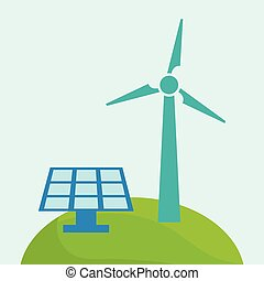 Green ecology energy design, vector illustration graphic