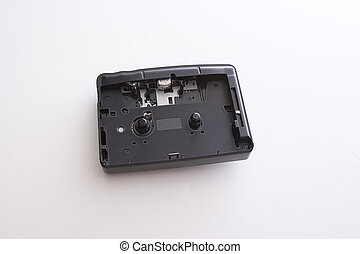 Broken cassette player - Old dusty casette player with front...