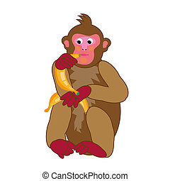 monkey illustration for the new year greeting cards