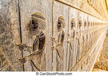 Immortals relief detail Persepolis - Guardians also known as...
