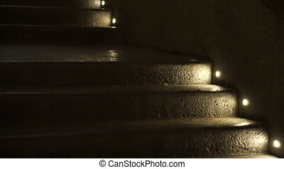 step light night concrete texture - step light at night lit...