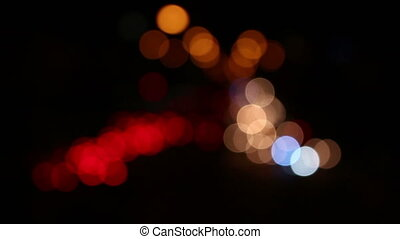 light blurry background with cars - City at night background...