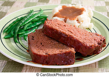 Meat Loaf Dinner - The ultimate comfort food… meat loaf...