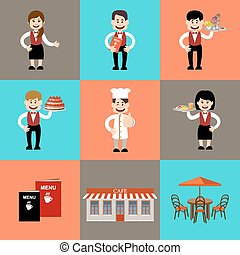 personnel in cafe and restaurants - The service personnel in...