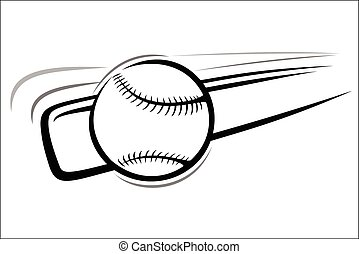 Baseball bat and ball - Vector illustration - Baseball ball...