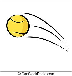 Tennis ball - Vector illustration - Tennis ball on a white...