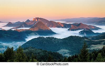 Landscape in Pieniny, Slovakia