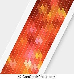 Red Card Background - Vector Abstract Red Card Background