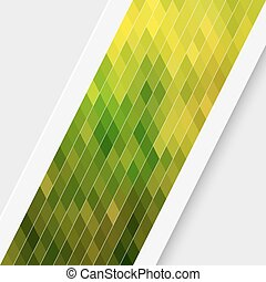 Green Card Background - Vector Abstract Green Card...
