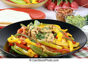 fajitas - mexican fajitas made with delicious fresh...