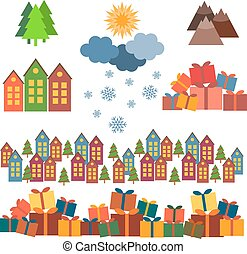 Christmas set of vector images