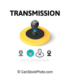 Transmission icon in different style - Transmission icon,...