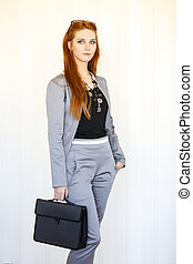 Redhaired business woman