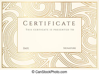 Certificate, Diploma of completion. Border - Diploma,...
