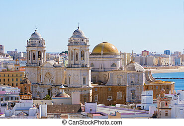 Cadiz cathedral - Cadiz in Andalusia, Spain: the cathedral...