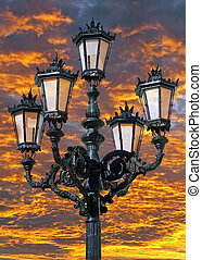 Ornate lampost - Andalucia in Spain: an ornate lampost in...