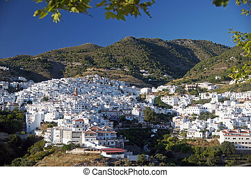 Competa - Andalucia in Spain: the pueblo blanco of Competa,...