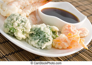 Tempura Vegetables - Lightly battered Japanese tempura...